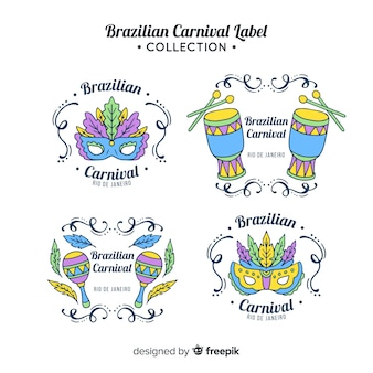 Brazilian carnival label collection