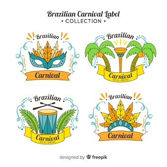 Brazilian carnival label collection