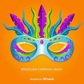 Бразильский карнавальная маска фон