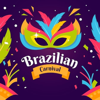 Illustrazione della maschera di carnevale brasiliano
