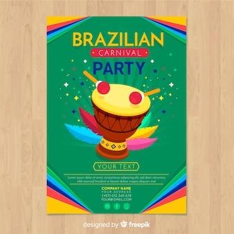 Volantino brasiliano festa di carnevale