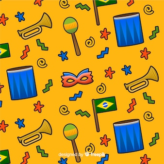 Brazilian carnival pattern background