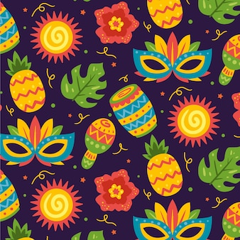 Brazilian carnival pattern collection