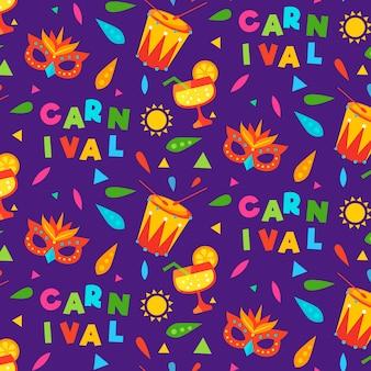Brazilian carnival pattern in flat design