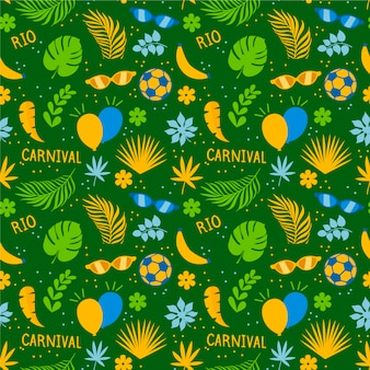 Бразильский карнавал в плоском дизайне