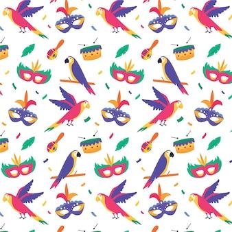 평면 디자인의 브라질 카니발 패턴