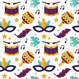 Brazilian carnival pattern theme