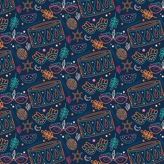 브라질 카니발 패턴 테마