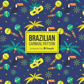 Brazilian carnival pattern