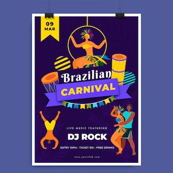 Brazilian carnival template.