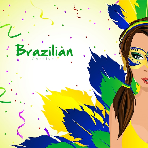 Brazilian carnival with girl characters