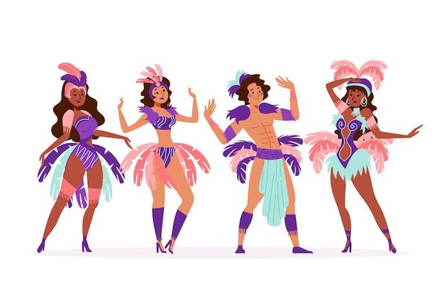 Brazilian carnival women dancer collection