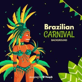 Brazilian dancer carnival background