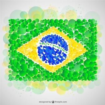 Brasiliana disegno vettore di bandiera