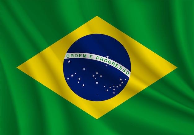 브라질 현실적인 물결 모양의 플래그