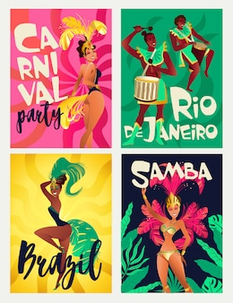 Brazilian samba posters