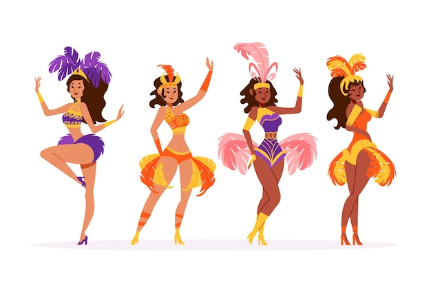 Brazilian women carnival dancer collection