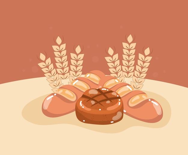 빵과 밀 가지