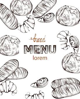 Bread bakery menu
