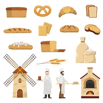 Bread bakery set