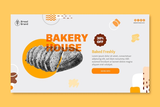 Bread banner template