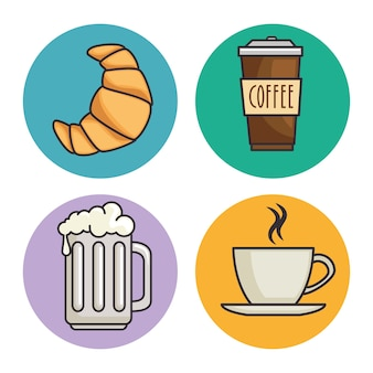 Bread and beverage icon