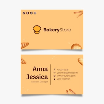 Bread business card template