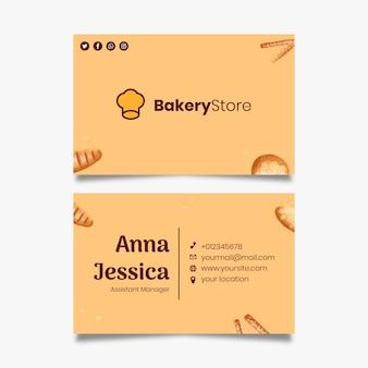 Шаблон визитной карточки хлеба