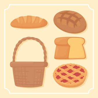 빵 만화 세트