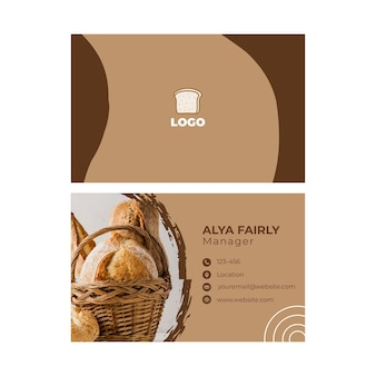 Bread double-sided businesscard horizontal