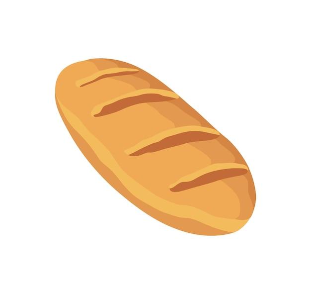 パン。手作りの家庭料理の完成品。自家製のすぐに食べられる食品。フラット漫画ベクトル分離アイコン。