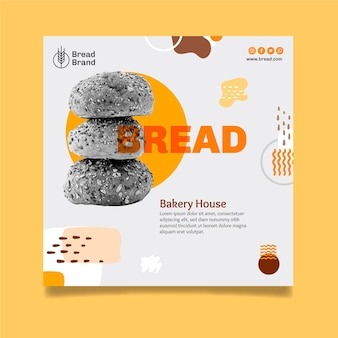Bread flyer template