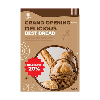 Bread flyer vertical concept