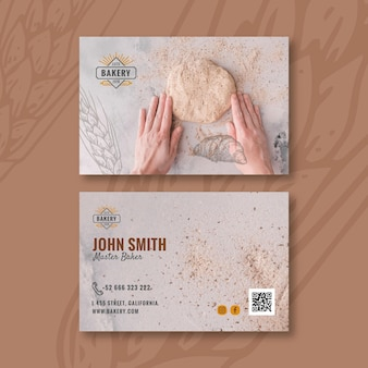 Bread horizontal business card
