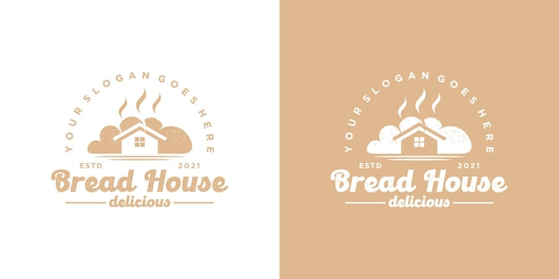 Bread house logo,bakery logo, cake logo, reference for business