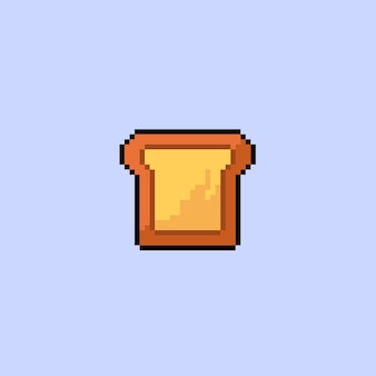 Bread icon with pixel art style