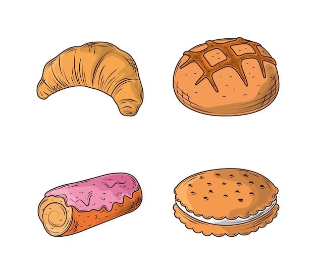Набор иконок хлеба