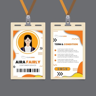 Bread id card template
