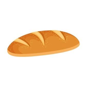 흰색 배경 위에 절연 빵입니다. 벡터 일러스트 레이 션
