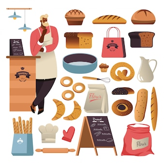 Bread or patry food, bakery shop