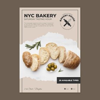 Modello di poster di pane con foto