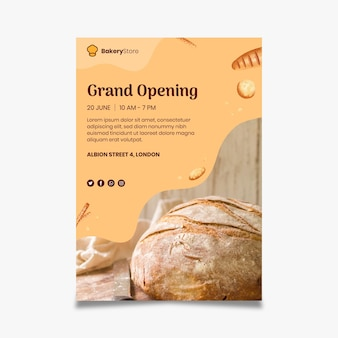 Bread poster template Free Vector