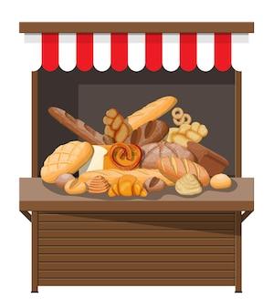 빵 제품 및 시장 매점