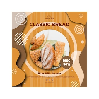 Bread sale flyer template