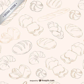 Bread scribbles pattern