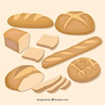 Bread set Premium Vector