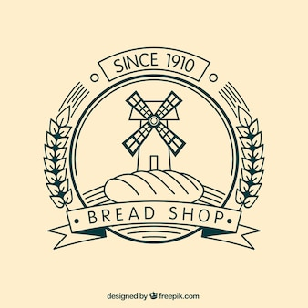 Bread shop badge