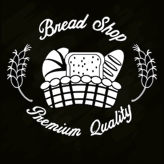 Хлеб магазин премия качество корзина хлеб Premium векторы