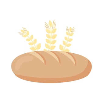 Bread and spikes wheat icon