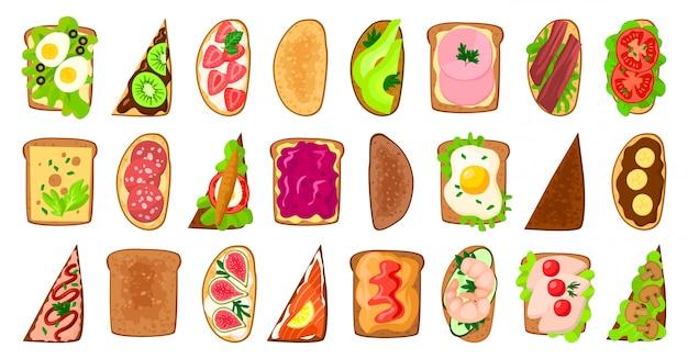 Иллюстрация тоста хлеба на белой предпосылке.